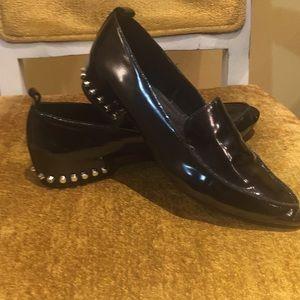 Jeffery Campbell Black patent leather loafers Sz8